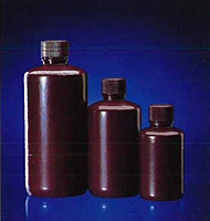 Amber HDPE Narrow Mouth Bottles
