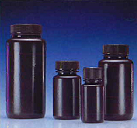 Amber HDPE Wide Mouth Bottles